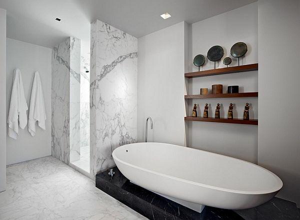 Kleine Badewannen Freistehend freistehende badewanne im modernen badezimmer