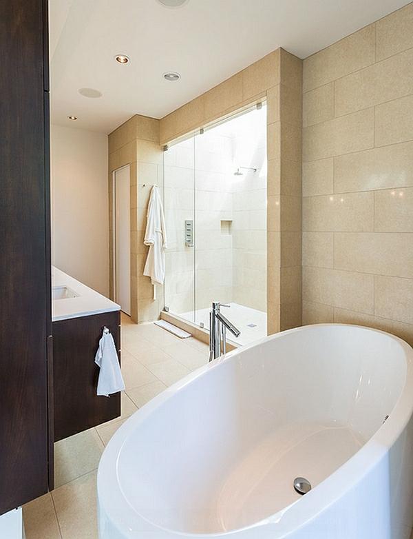 badezimmer einrichten wohnideen moderne architektur duche glaswände