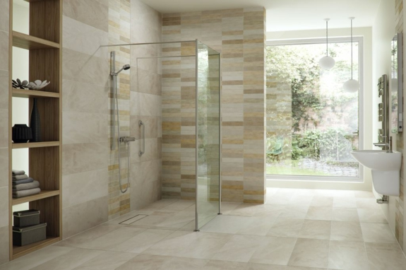 Dusche Ohne Duschtasse Bauen : Roll in Shower Bathroom Design
