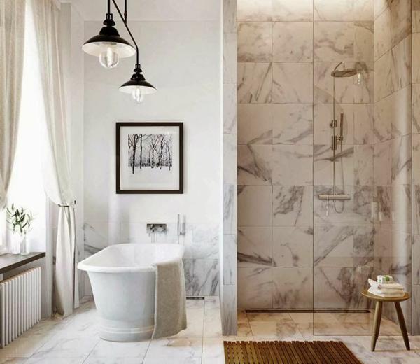 badezimmer freistehend badewanne wandfliesen bodenfliesen