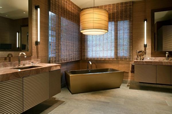badezimmer hängelampe lampenschirm badewanne