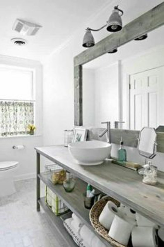 badezimmer ideen badmöbel rustikal ideen badeutensilien