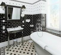 Badezimmer Ideen in Schwarz-Weiß – 45 inspirierende Beispiele