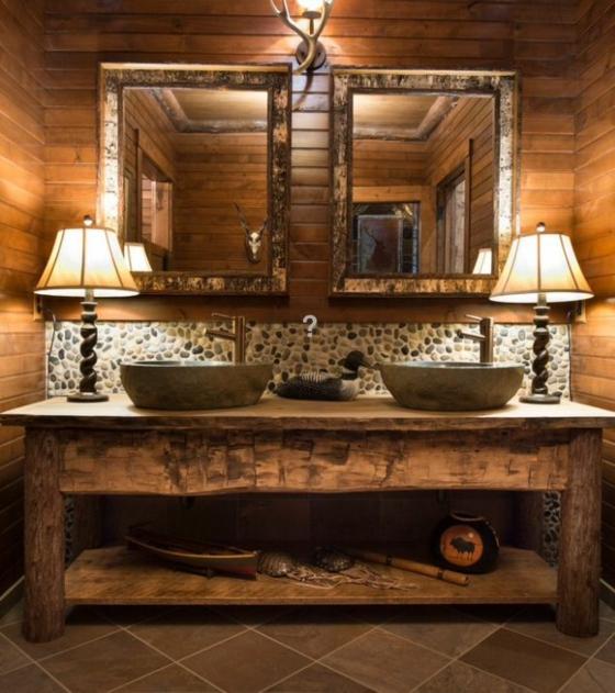 badezimmer möbel ideen aus holz im landhausstil