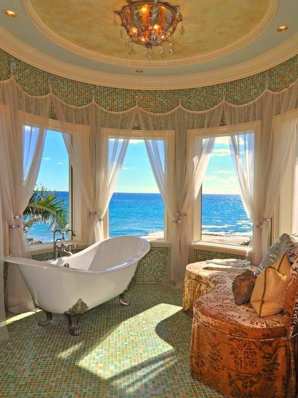 badezimmer mit tollem meerblick freistehende wanne