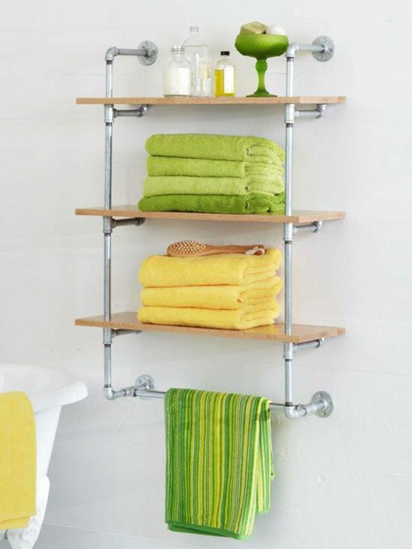 badezimmer möbel wandregale holz Wandregale für Badezimmer