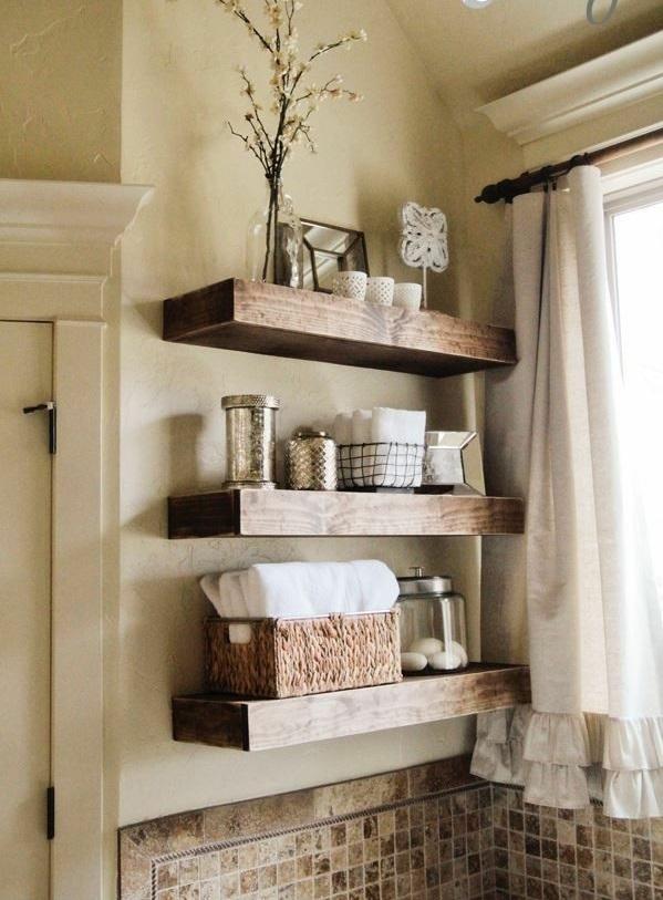 Badezimmer Holzoptik Idee