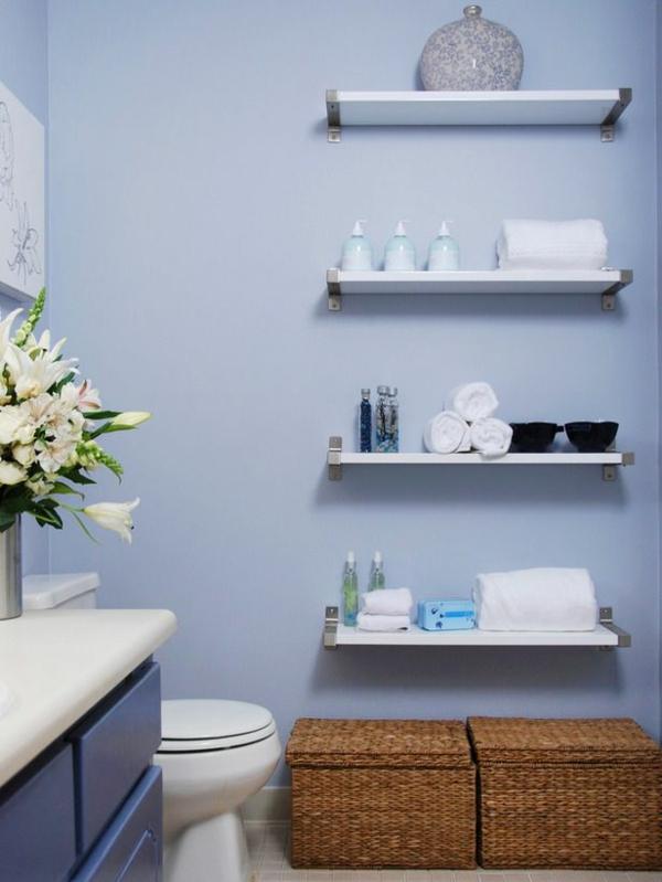 badezimmermöbel wandregale simpel Wandregale für Badezimmer