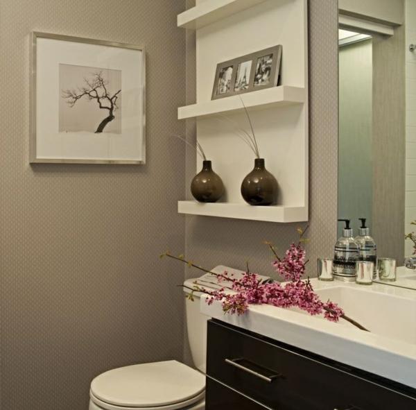 Wandregale für Badezimmer badezimmermöbel wandregale waschbecken