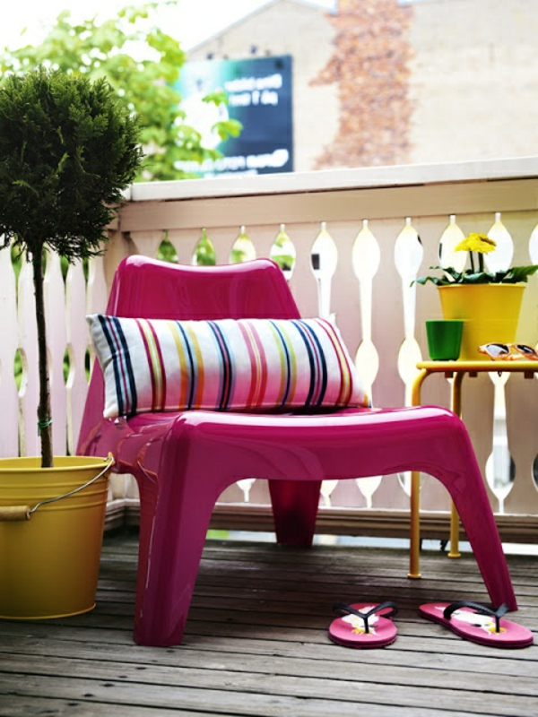 selber bauen  Gartenmöbel Set aus recycelten Materialien => Balkonmobel Set Bunt