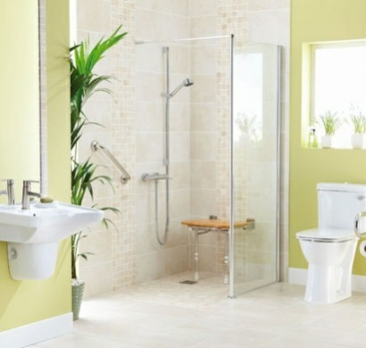 ebenerdige dusche modernitt und funktionalitt im badezimmer - Lampe Fur Begehbare Dusche