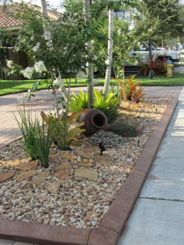 vorgarten gestalten rindenmulch – controng, Garten und Bauen