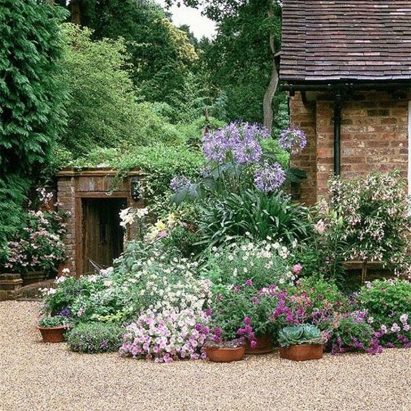 vorgartengestaltung rindenmulch, vorgarten mit kies gestalten - bilder und tipps für sie, Design ideen