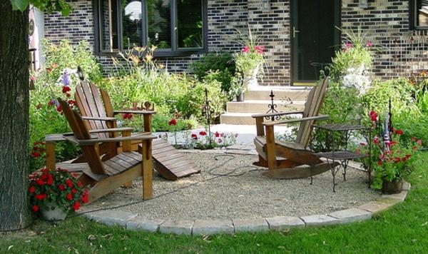 Garten mit kies bilder  Vorgarten mit Kies gestalten - Bilder und Tipps für Sie