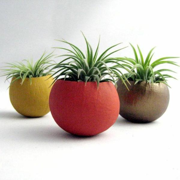blumentöpfe und pflanzgefäße kunstvoll designs rot gelb