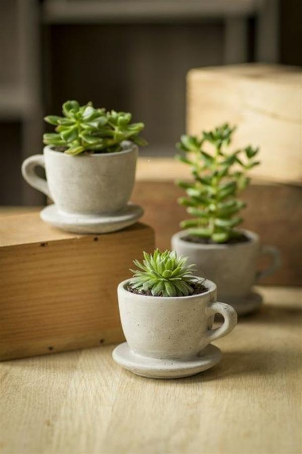 kunstvoll designs tassen beton blumentöpfe und pflanzgefäße