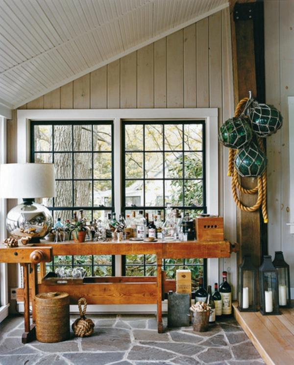 bodenbelag steinpflaster terrassengestaltung ideen laube holz möbel