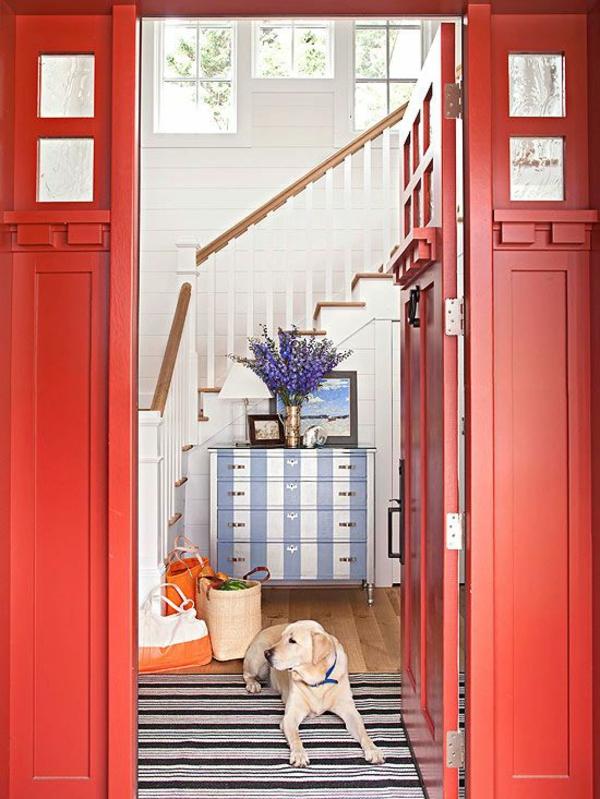 20 wohnideen für schöne farbgestaltung im flur, Wohnideen design