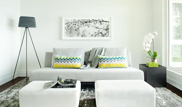 Chevron Muster Wohnzimmer Design Ideen Dekokissen