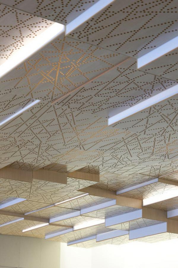 Metall und holz geh ren zusammen im innendesign - Decke gestalten ideen ...