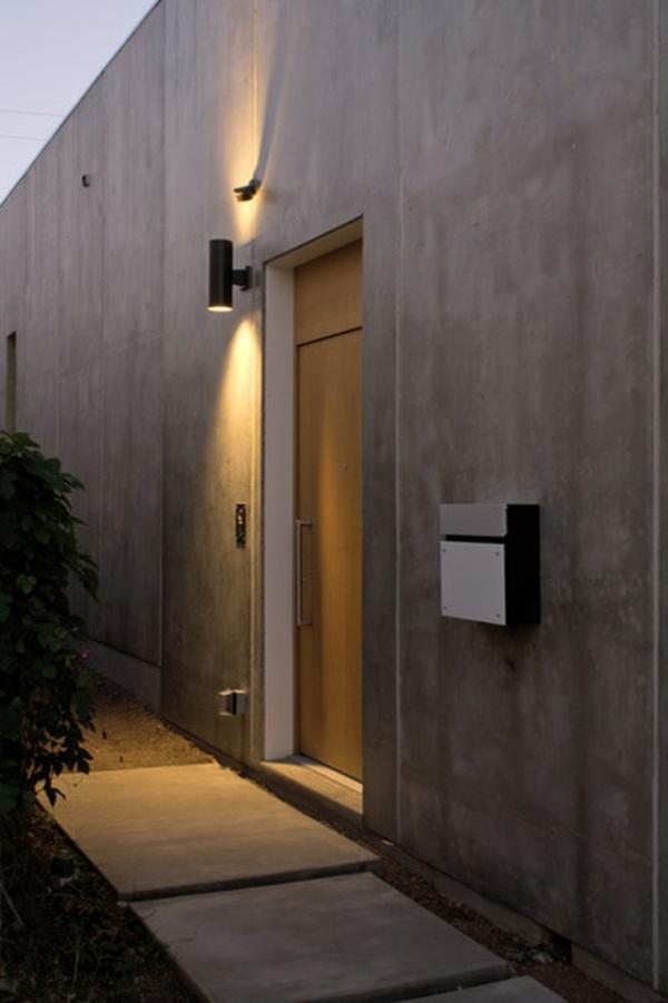 design edelstahl briefkasten hausfassade architektur beton