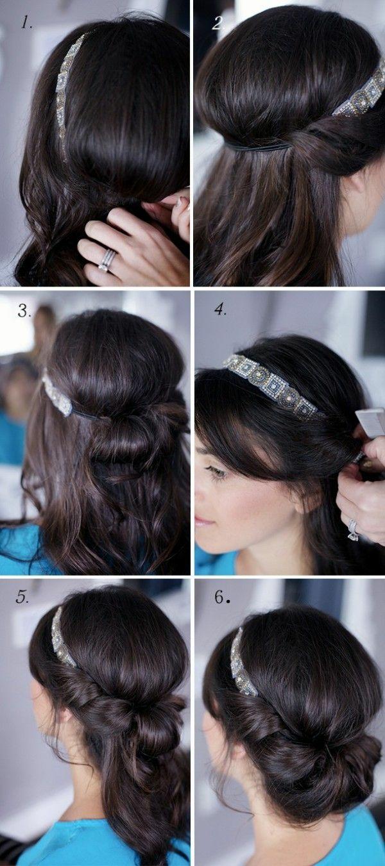 diy frisuren einfach schnell modern haarband