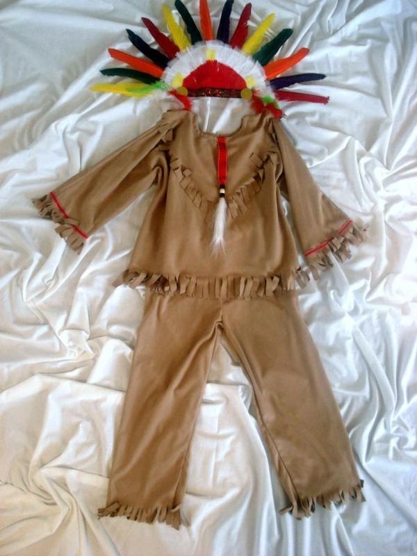 diy karnevalskostüme fasching indianer
