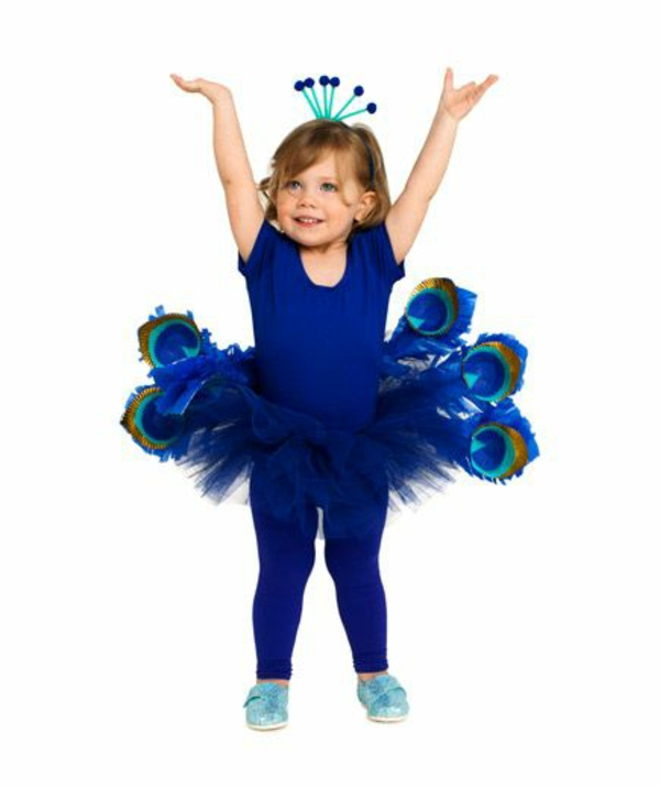 diy karnevalskostüme fasching ideen pfau