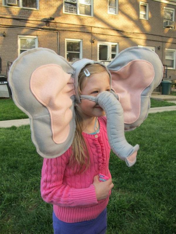 diy karnevalskostüme fasching ideen elefant