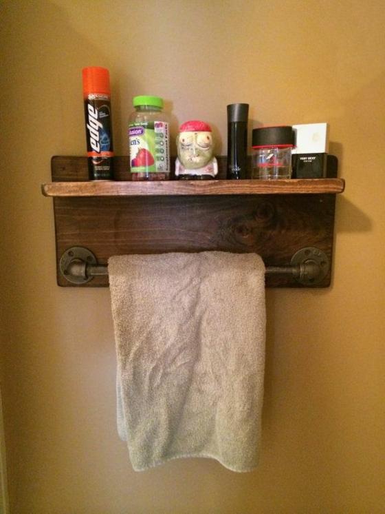 diy möbel rustikale badmöbel holz handtuchtrockner