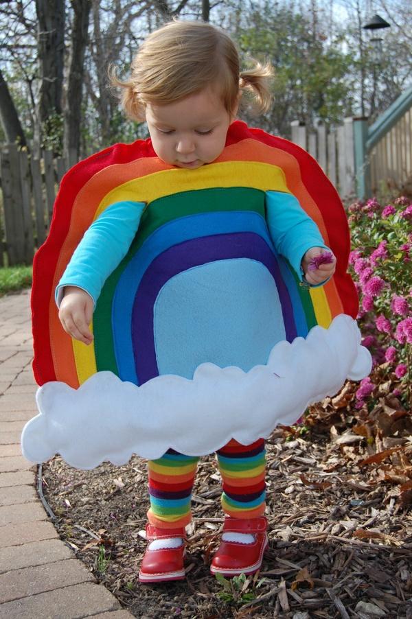 diy regenbogen karnevalskostüme fasching kinder