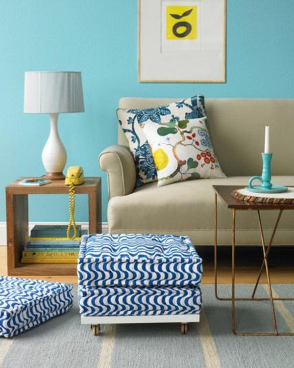 diy sitzkissen projekte bunt farbig im wohnzimmer