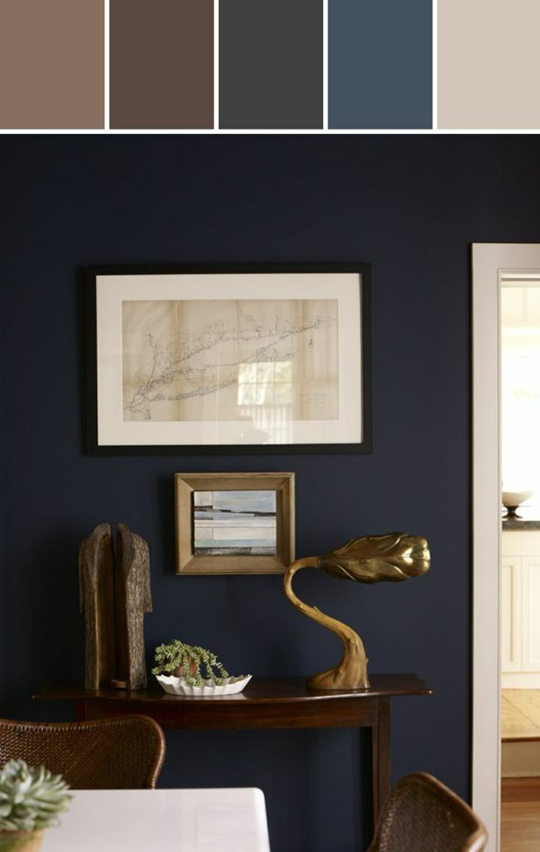 Gray And Navy Living Room Ideas