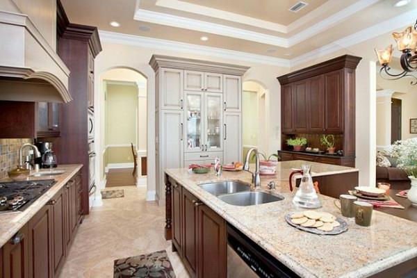 holz marmor oberflächen spüle traditionell stil moderne Küchengestaltung Ideen
