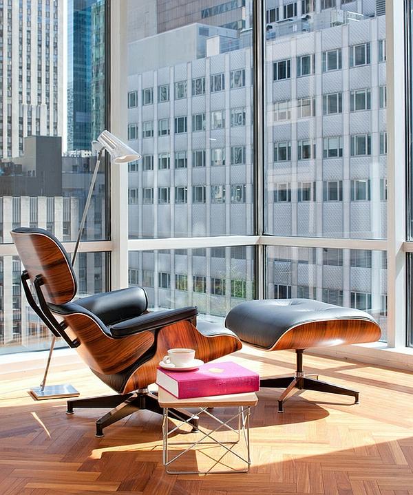 eames lounge liege moderne Beistelltische bücher lesen
