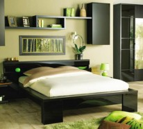 schlafzimmerwand gestalten wanddeko hinter dem bett. Black Bedroom Furniture Sets. Home Design Ideas