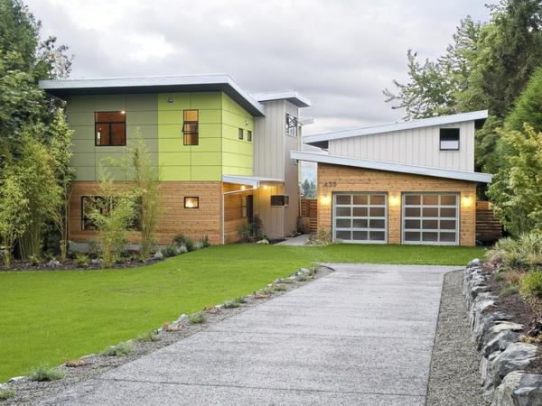 Wie Kann Man Eine Grüne Einfahrt Pflastern Gartengestaltung Ideen Mit Einfahrt