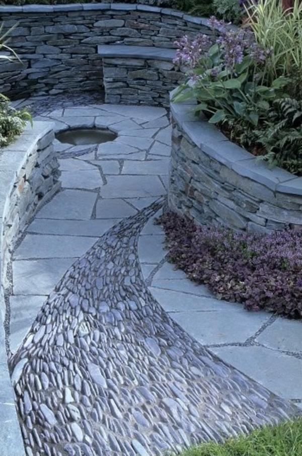 einmaliger steingarten außenarchitektur ideen