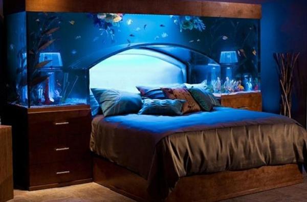 einrichtungsideen möbel modern aquarium