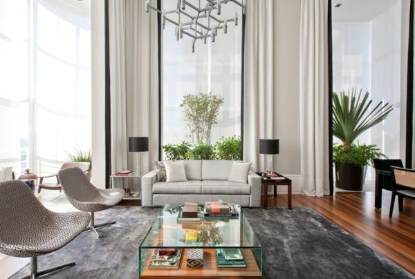 einrichtungsideen möbel modern gardinen wohnzimmer