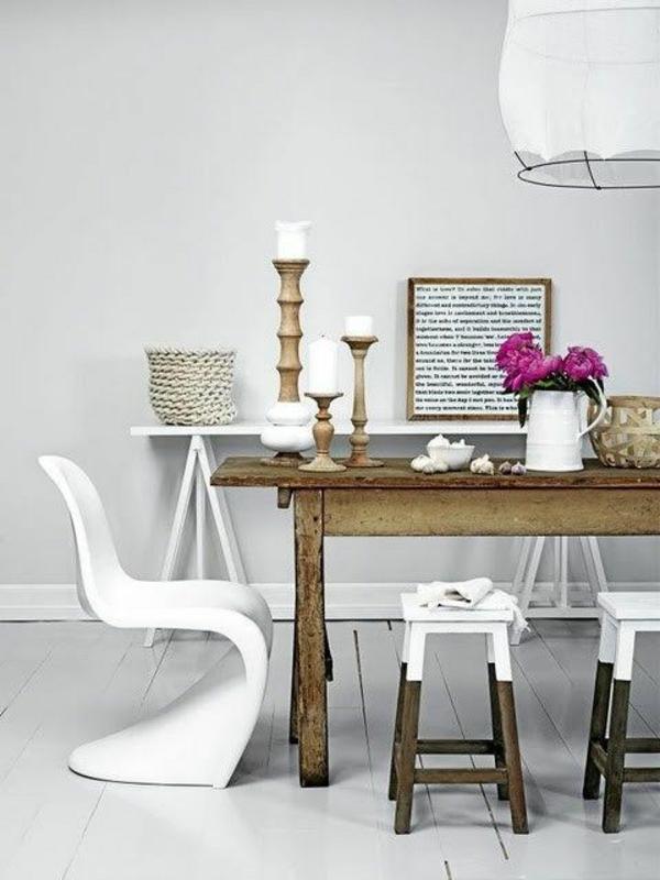 einrichtungsideen möbel modern weiß stuhl