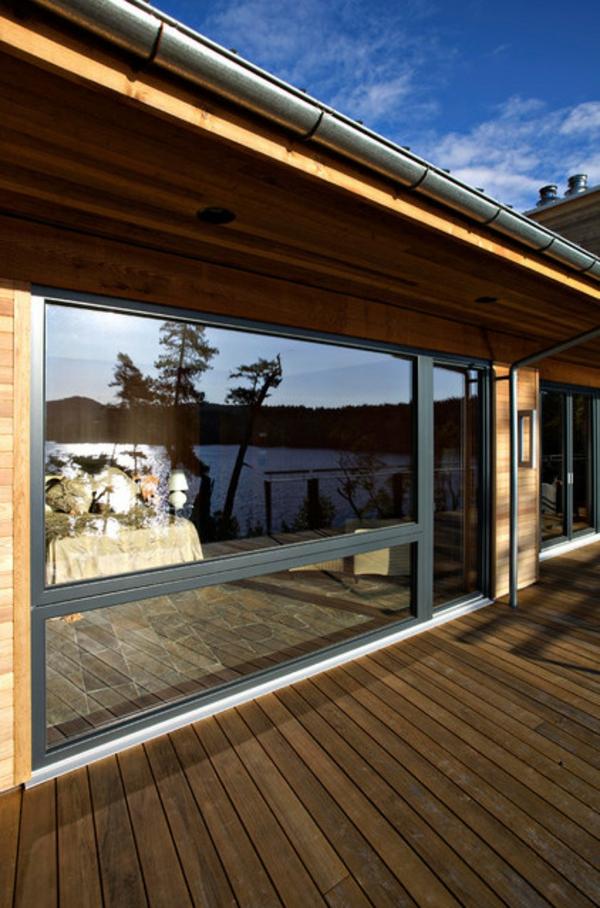 zeitgenössisch patio exterior holzboden