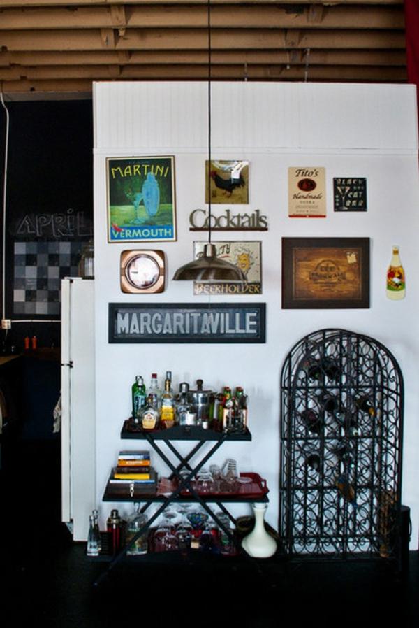 eklektischer wohnzimmer dekoration wein lagern ideen