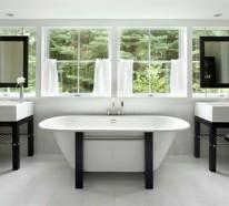 Facebook Twitter Google+ Pinterest · Badezimmer Ideen Farbgestaltung Schwarz  Weiß