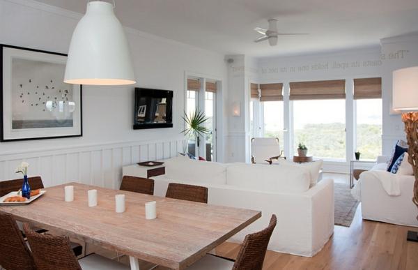 Design Wohnzimmer Mit Essbereich Ideen Groe Pendelleuchten Im Esszimmer Moderne Hngelampen