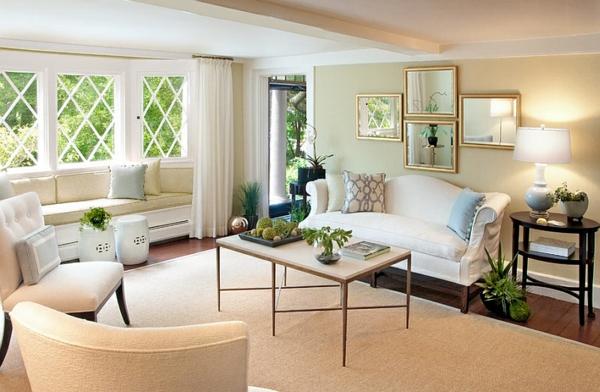 elegantes wohnzimmer design chinesische keramik gartenstühle