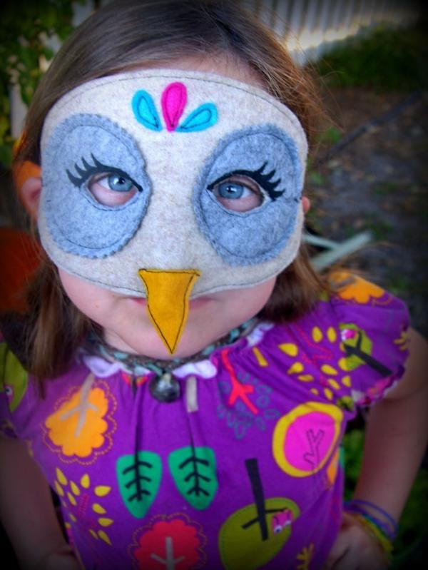 eule ideen karnevalskostüme schick maske