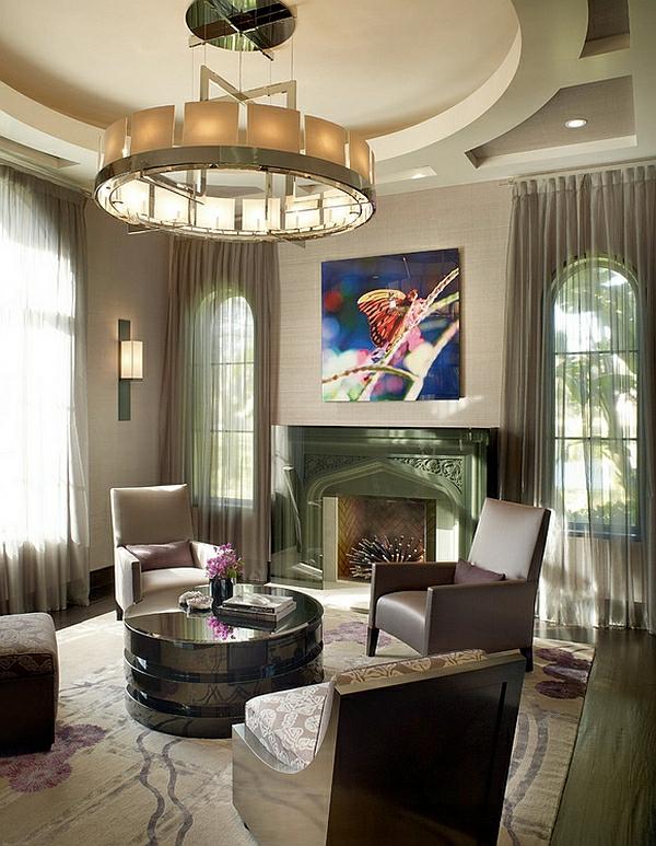 Farben Schattierungen Gardinen Wohnzimmer Klassisch