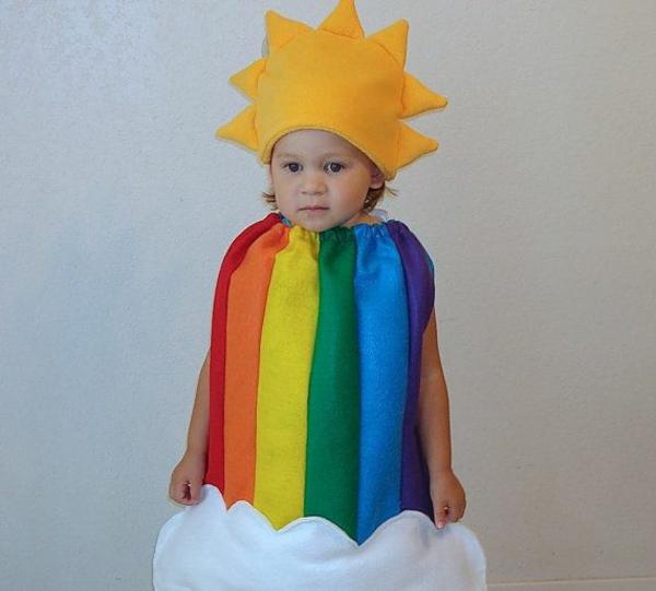 fasching kostüme ideen sonne regenbogen