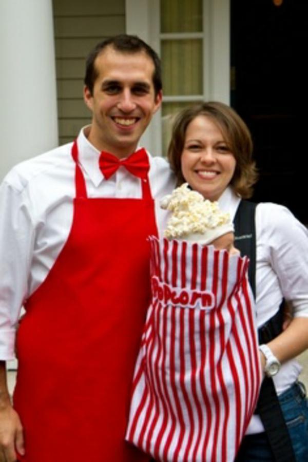 faschingskostüme ideen verkleidung popcorn familie